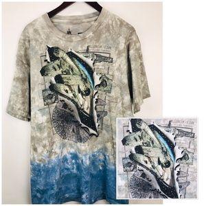 Star Wars Millenennium Falcon T-shirt Tie Dye